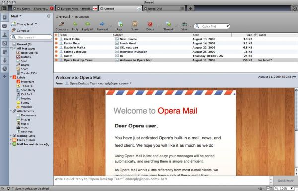 Vorschau Opera for Windows - Bild 1