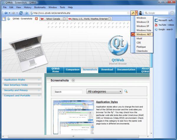 Vorschau QtWeb Internet Browser - Bild 1