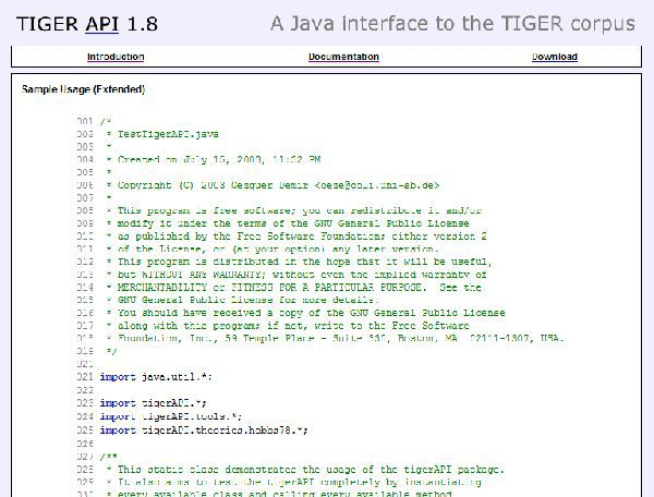 Vorschau TIGER API - Bild 1