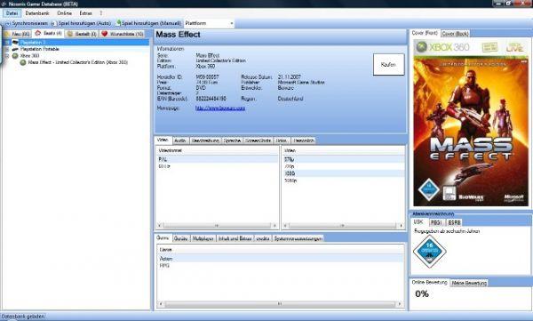 Vorschau Noseris Game Database - Bild 1