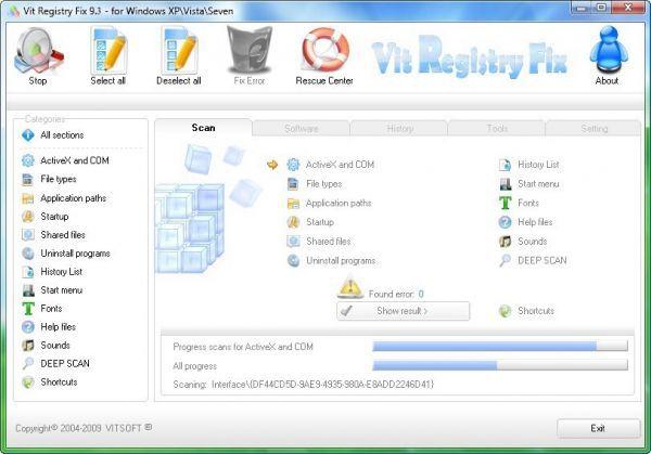 Vorschau Vit Registry Fix Free Version - Bild 1