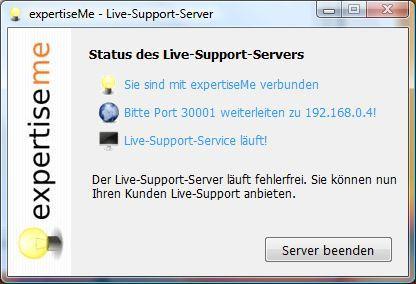 Vorschau expertiseMe Live-Support-Server - Bild 1