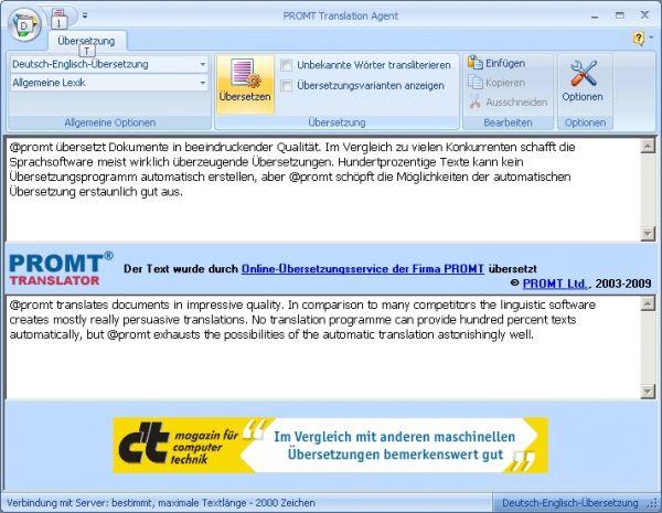 Vorschau PROMT Translation Agent - Bild 1
