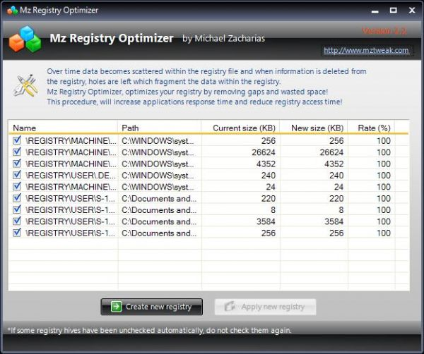 Vorschau Mz Registry Optimizer - Bild 1