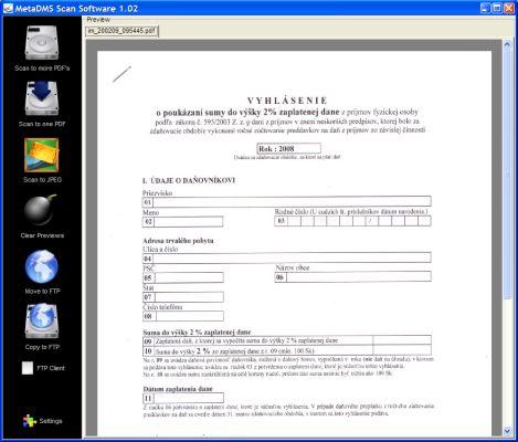 Vorschau MetaDMS Scan Software - Bild 1