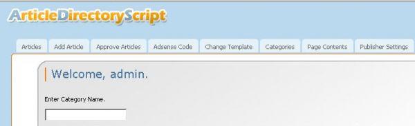 Vorschau Article Directory Script - Bild 1