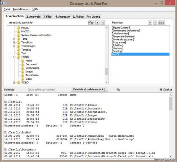 Vorschau Directory List und Print - Bild 1