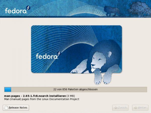 Vorschau Fedora Linux - Bild 1