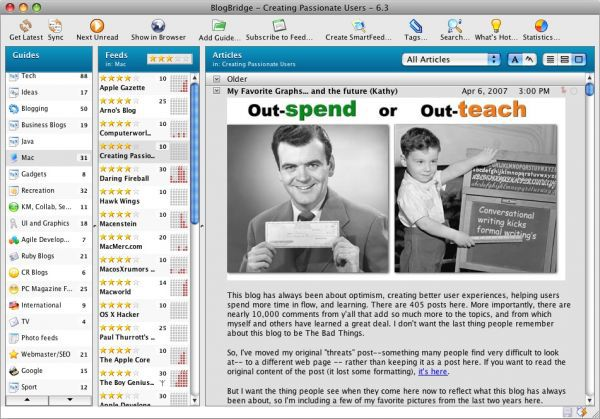 Vorschau BlogBridge for Mac - Bild 1