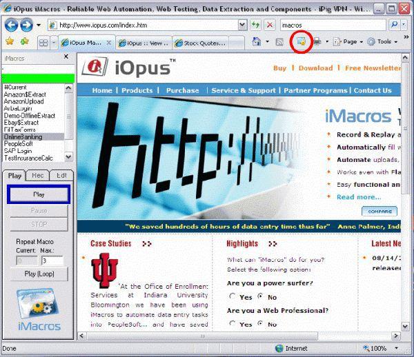 Vorschau 4IE iMacros Web Macro Recorder - Bild 1