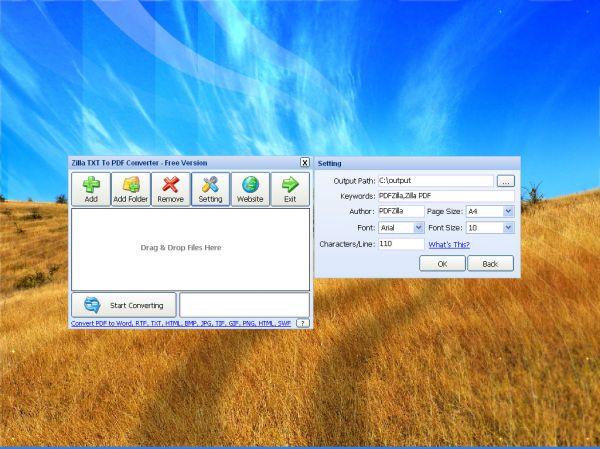 Vorschau Zilla TXT To PDF Converter - Bild 1