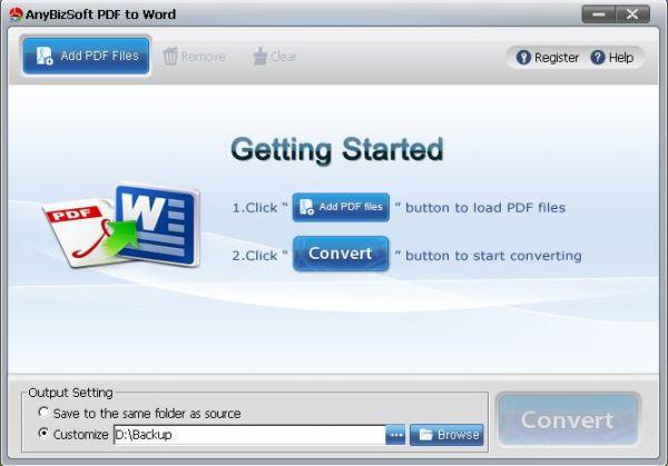 Vorschau AnyBizSoft PDF to Word Converter - Bild 1