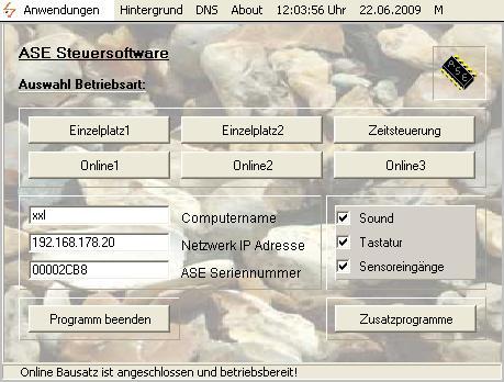 Vorschau ASE Steuersoftware - Bild 1