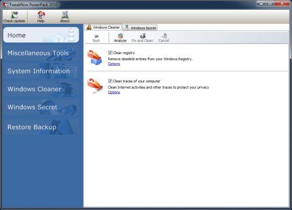 Vorschau TweakNow PowerPack 2012 - Bild 1