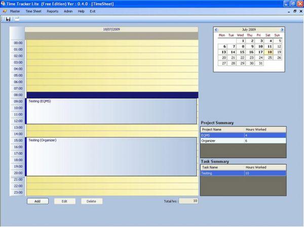 Vorschau Time Tracker Lite - Bild 1