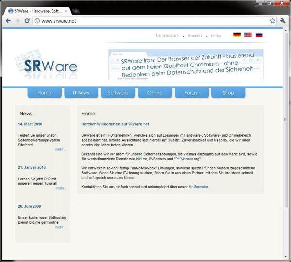 Vorschau SRWare Iron und Portable - Bild 1