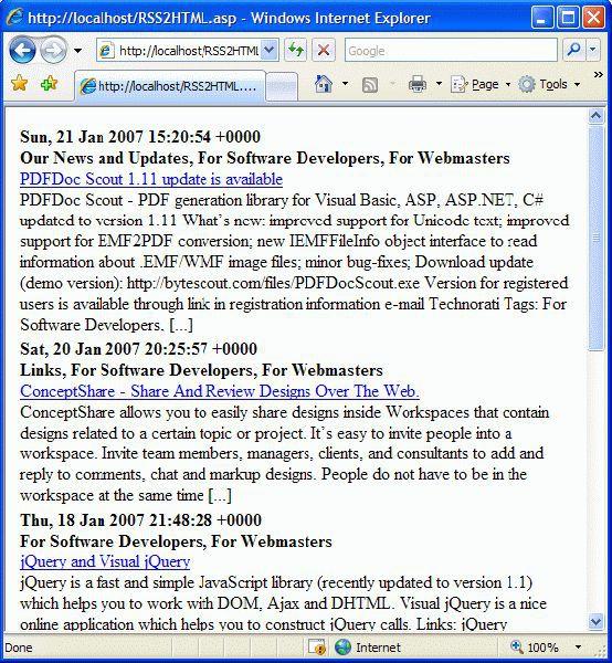 Vorschau RSS2HTML.asp - Bild 1
