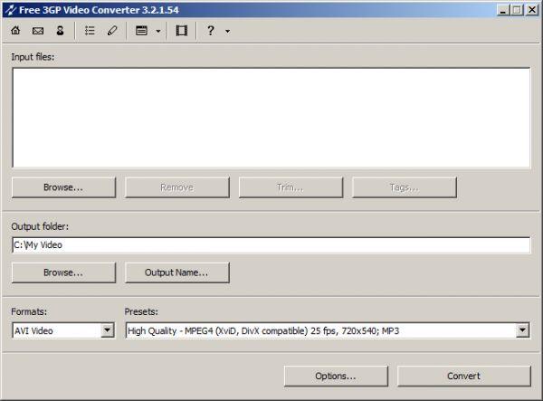 Vorschau Free 3GP Video Converter - Bild 1