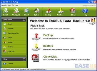 Vorschau EaseUS Todo Backup Free - Bild 1