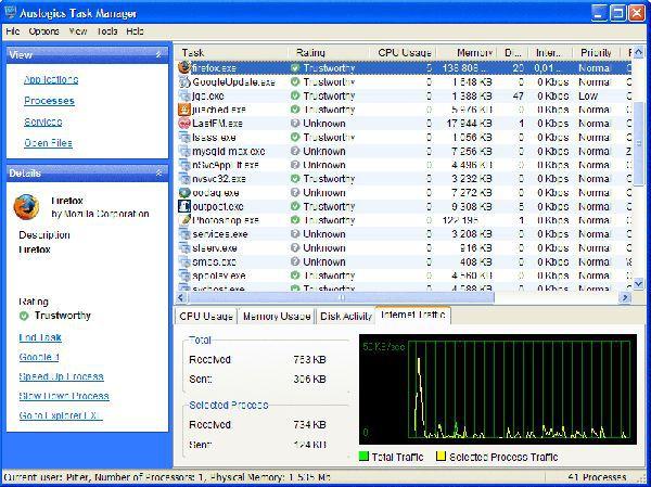 Vorschau Auslogics Task Manager and Portable - Bild 1