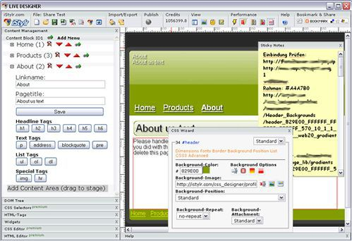 Vorschau WYSIWYG CSS and HTML Editor - Bild 1