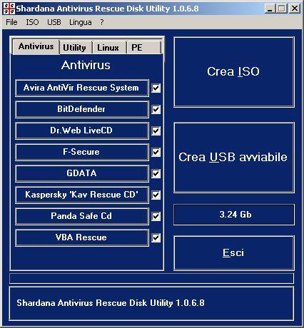 Vorschau Shardana Antivirus Rescue Disk Utility - Bild 1
