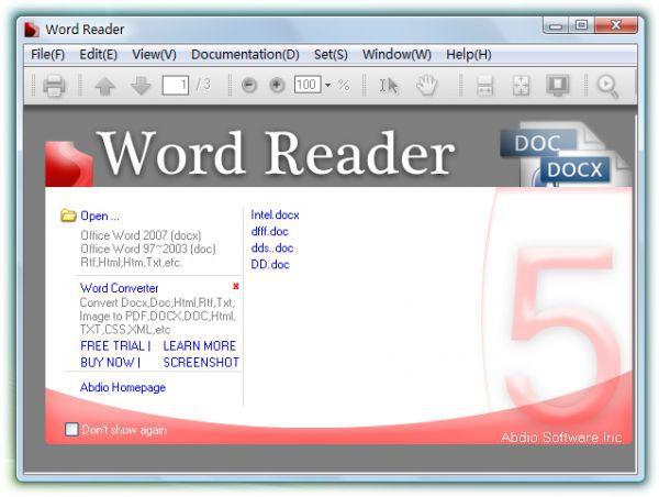 Vorschau Word Reader - Bild 1