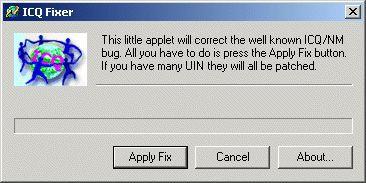 Vorschau ICQ Fixer - Bild 1