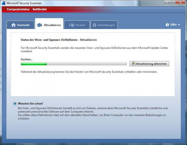 Vorschau Microsoft Security Essentials - Bild 1