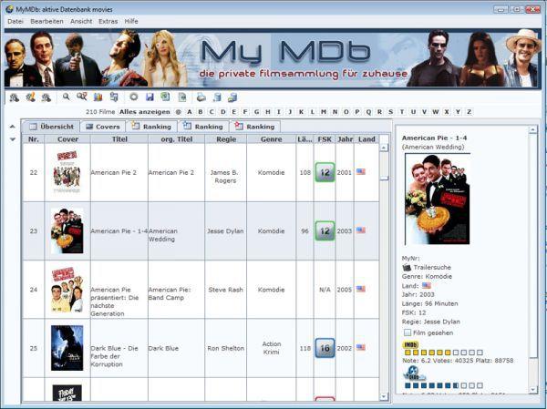 Vorschau MyMDb - Bild 1