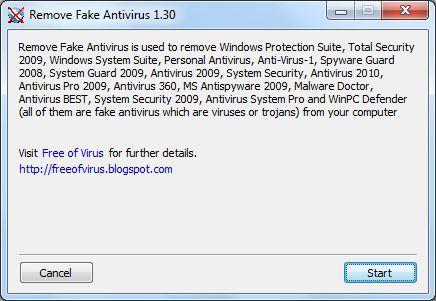 Vorschau Remove Fake Antivirus - Bild 1