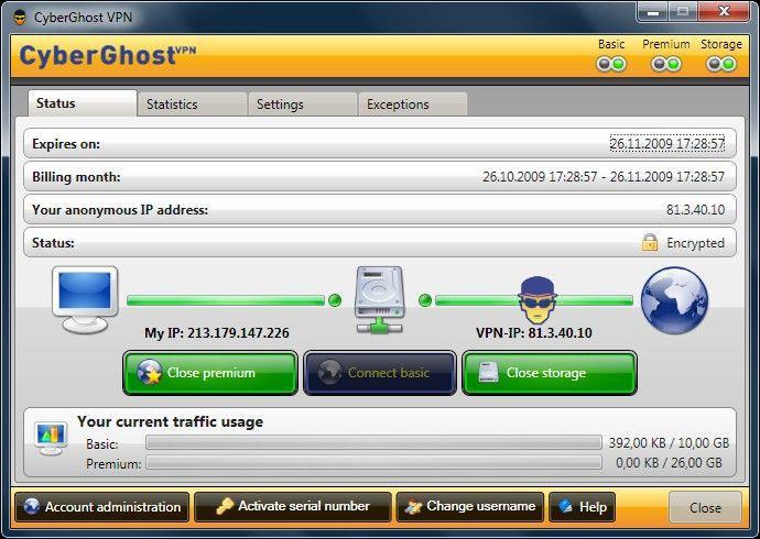Vorschau CyberGhost VPN 2 - Bild 1