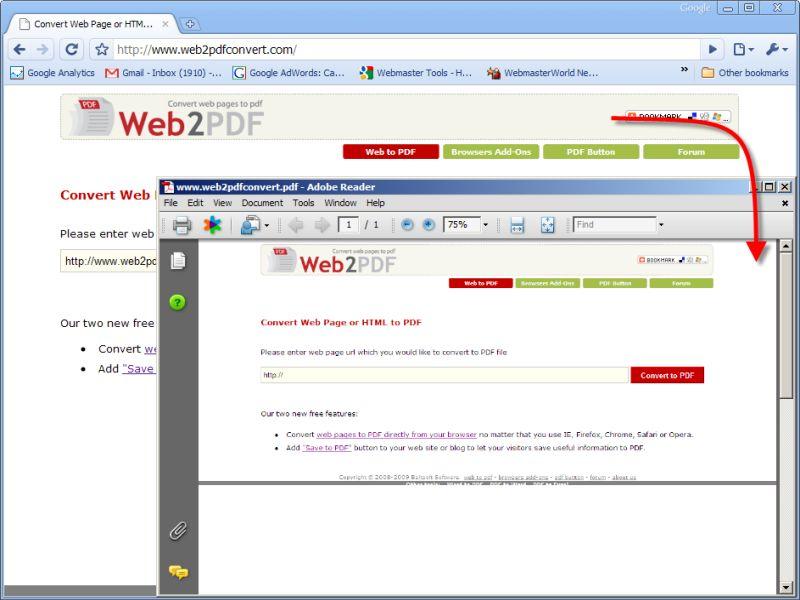 Vorschau Web2PDF Converter - Bild 1
