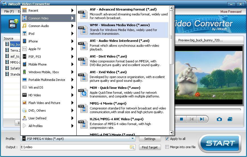 Vorschau iWisoft Free Video Converter - Bild 1