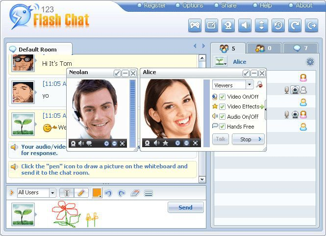 Vorschau e107 Chat Plugin for 123 Flash Chat - Bild 1
