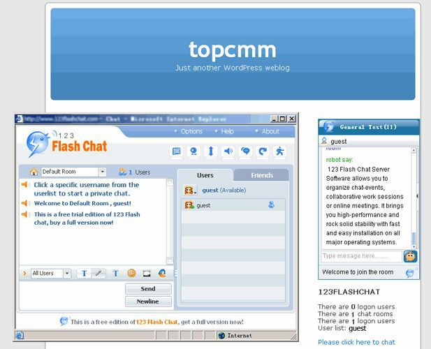 Vorschau WordPress Chat for 123 Flash Chat - Bild 1