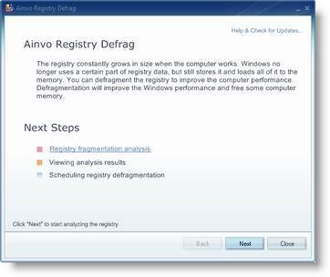 Vorschau Ainvo Registry Defrag - Bild 1