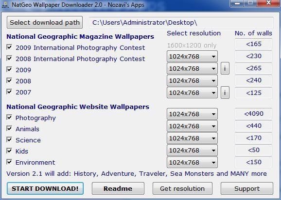 Vorschau NatGeo Wallpaper Downloader - Bild 1