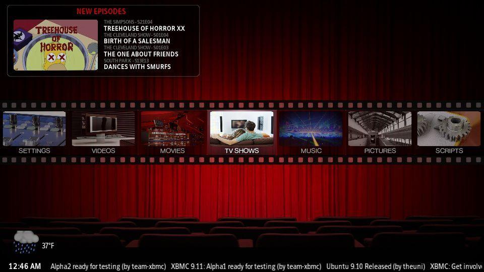Vorschau XBMC Media Center - Bild 1