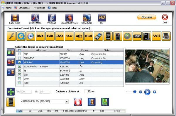Vorschau Quick Media Converter HD - Bild 1