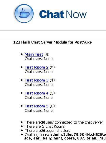 Vorschau PostNuke Chat Module for 123 Flash Chat - Bild 1