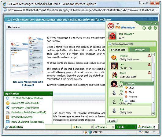 Vorschau Free vBulletin IM of 123 Web Messenger - Bild 1