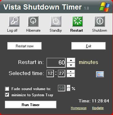 Vorschau Vista - Shutdown Timer - Bild 1