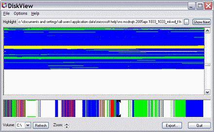 Vorschau SysInternals DiskView - Bild 1