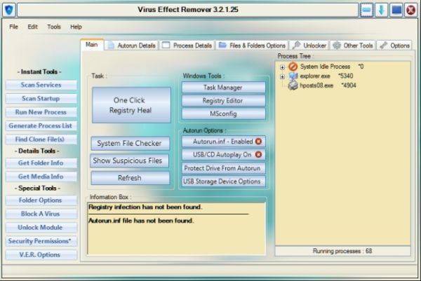 Vorschau Virus Effect Remover - Bild 1