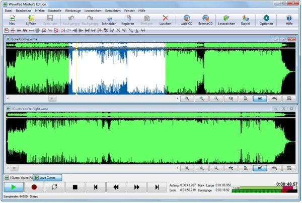 Vorschau Wavepad Kostenloser Audio Editor - Bild 1