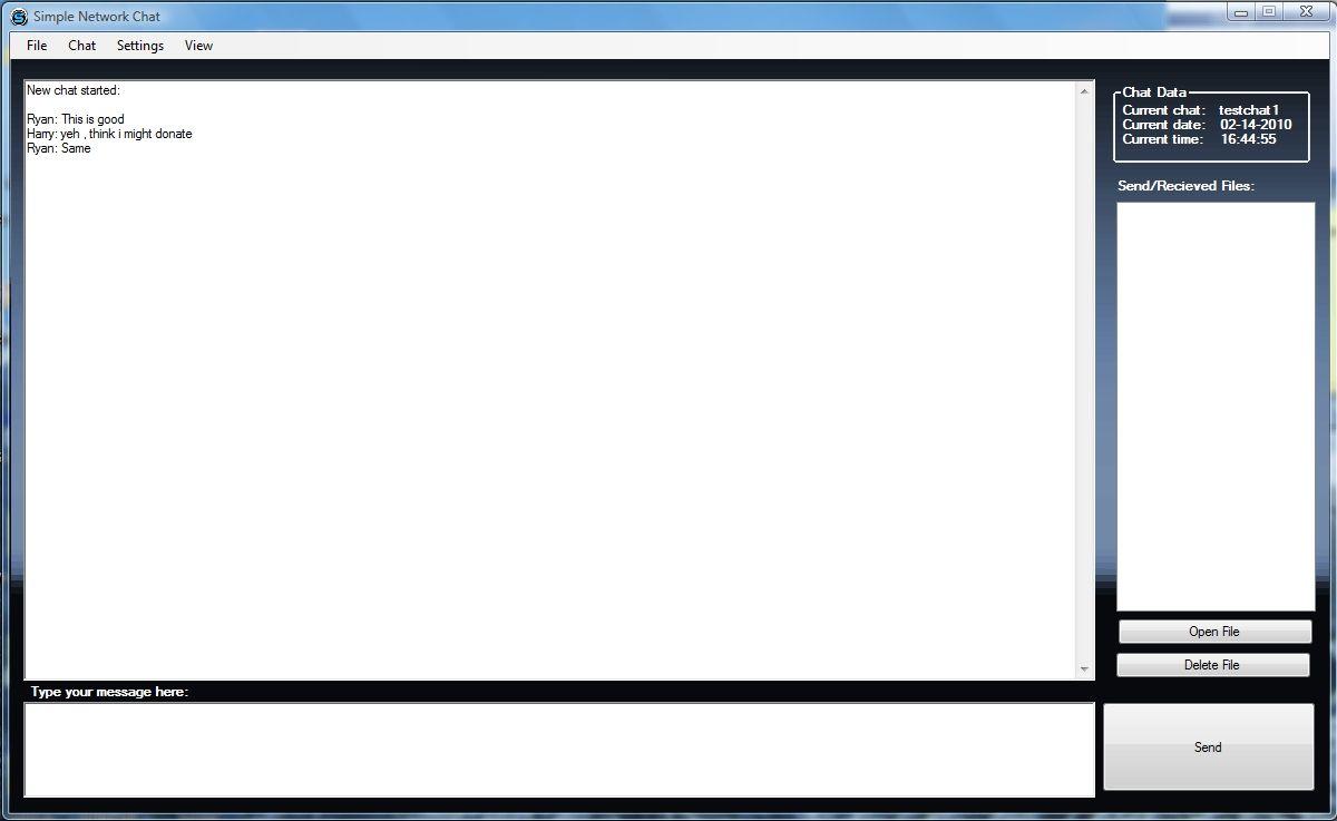 Vorschau Simple Network Chat - Bild 1