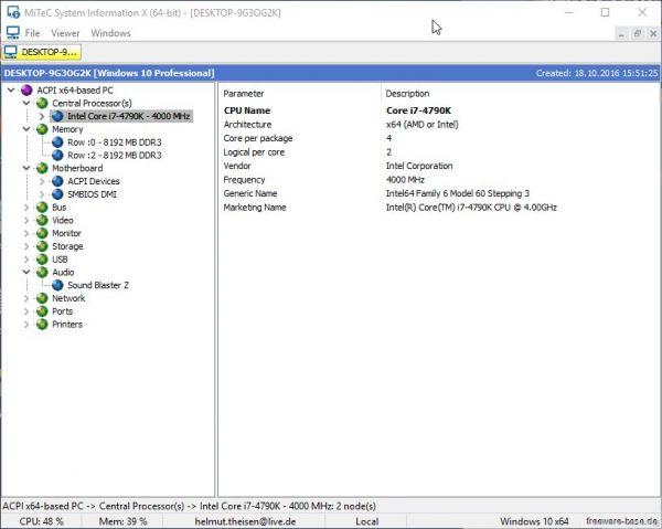 Vorschau MiTeC System Information X - Bild 1
