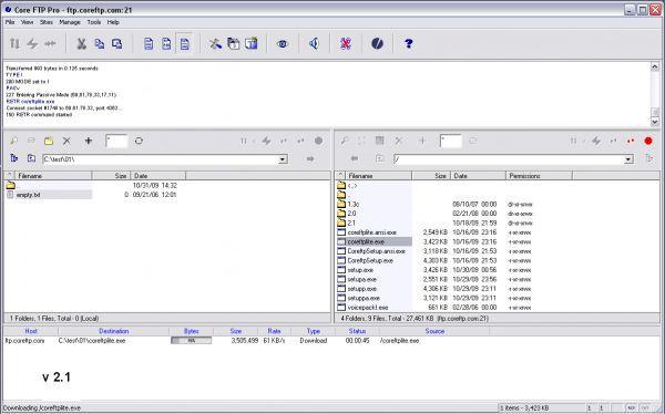 Vorschau Core FTP LE - Bild 1