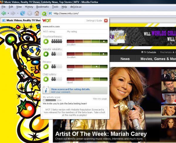 Vorschau WOT for Internet Explorer - Bild 1